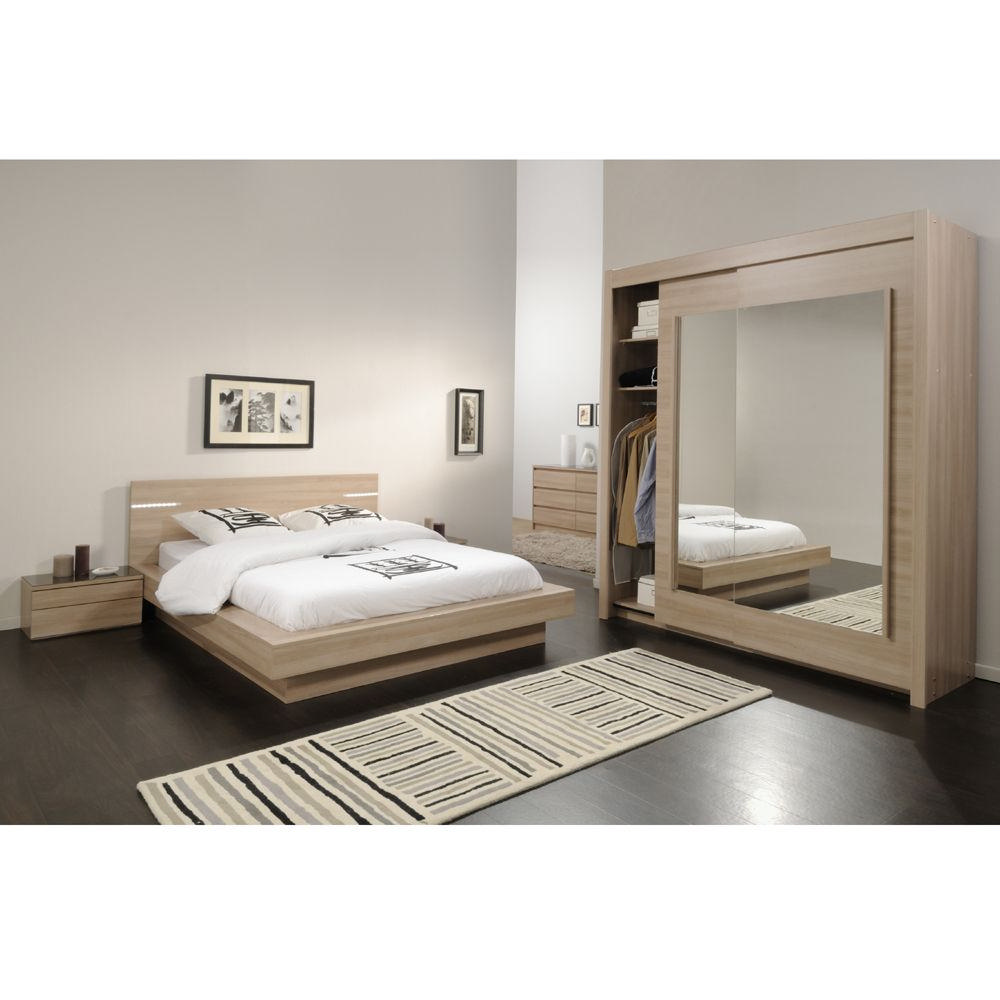 chambre coucher moderne eclair. Black Bedroom Furniture Sets. Home Design Ideas