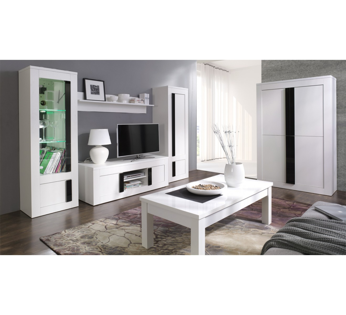 ensemble meubles de salon blanca. Black Bedroom Furniture Sets. Home Design Ideas