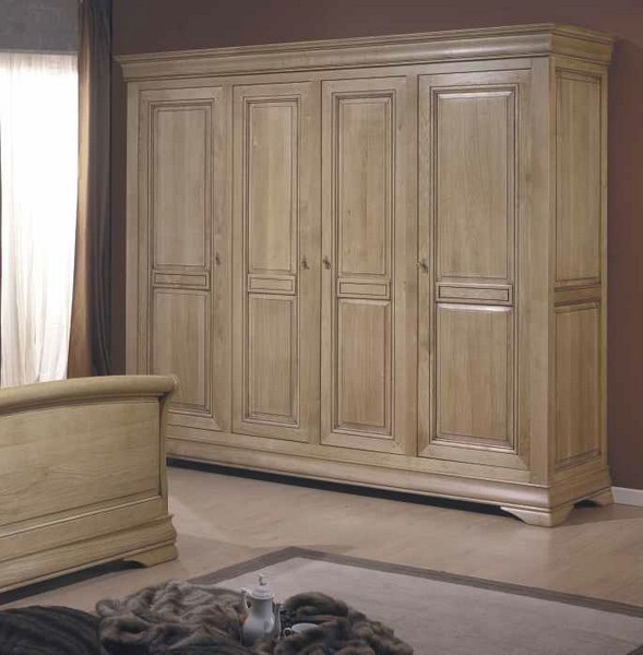 armoire 4 portes lucinda. Black Bedroom Furniture Sets. Home Design Ideas