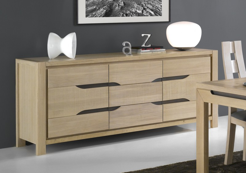 bahut moderne en ch ne massif baltic. Black Bedroom Furniture Sets. Home Design Ideas