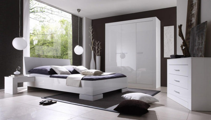 Chambre blanche moderne chambre blanche design chambre for Chombre a coucher moderne