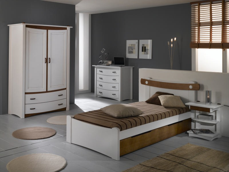 Chambre enfant pin massif  Saga  option commode
