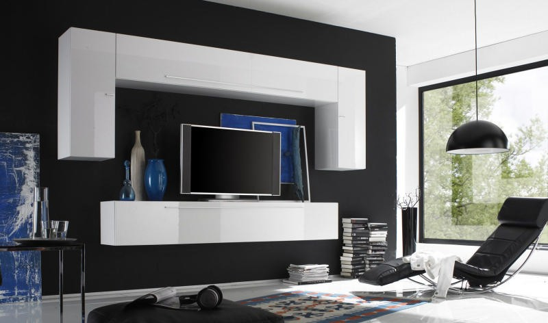 meuble t l moderne juno. Black Bedroom Furniture Sets. Home Design Ideas