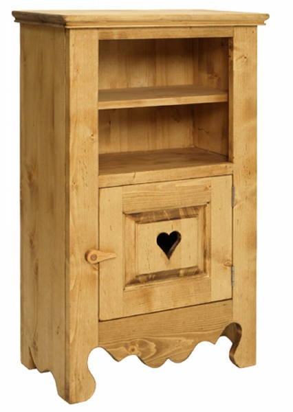 confiturier 1 porte 1 tag re pin massif p 39 tit coeur. Black Bedroom Furniture Sets. Home Design Ideas