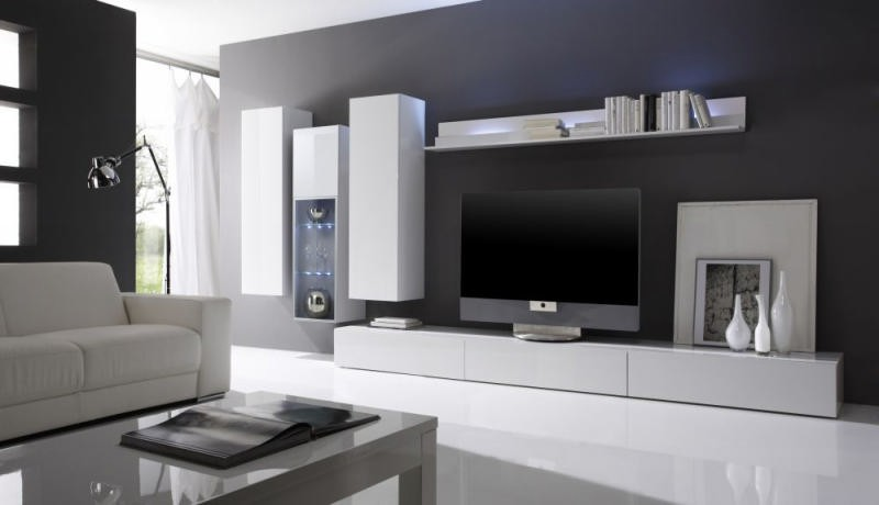 salon moderne blanc laque avec des id es int ressantes pour la conception de la. Black Bedroom Furniture Sets. Home Design Ideas