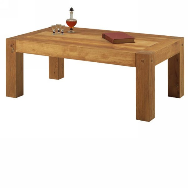 Table basse ch ne massif huil lodge casita - Table basse en bois massif pas cher ...