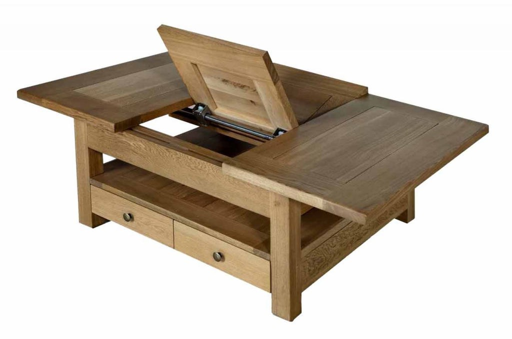 Table basse carr e ch ne massif bella - Table basse en chene clair ...