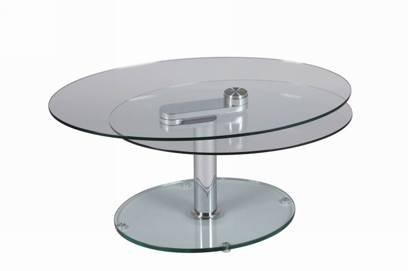 table basse ovale verre cristal. Black Bedroom Furniture Sets. Home Design Ideas