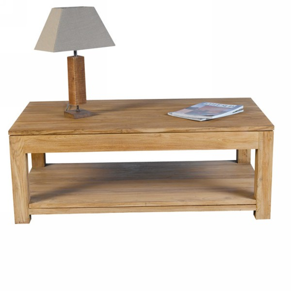 Table basse teck brut 17 best images about tables basses for Meuble 80x80x40