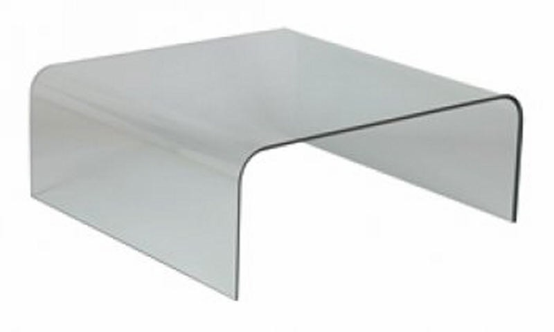Table basse verre cl o - Table basse tout en verre ...