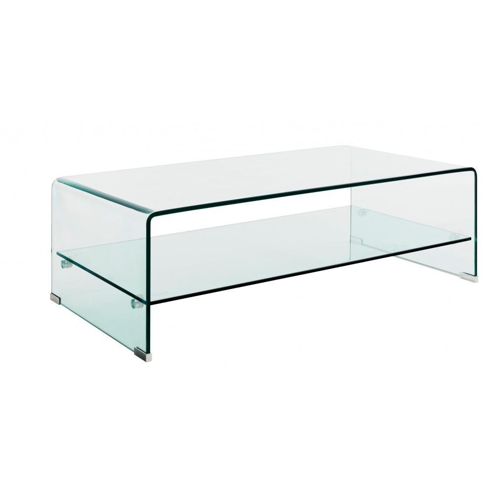 Meuble tv verre double plateau for Table tv en verre