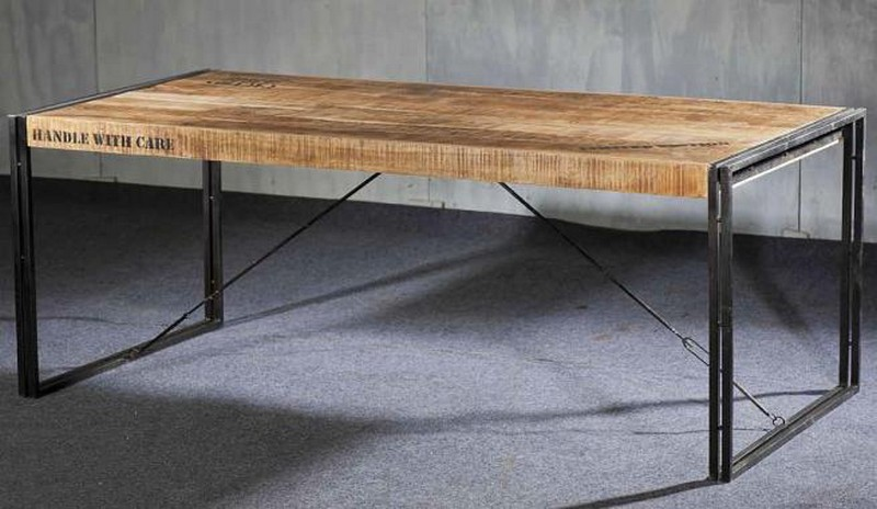 Table salle a manger loft maison design for Table de salle a manger 220 cm