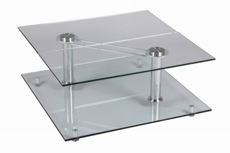 Table basse carr e verre cristal - Table carree verre ...