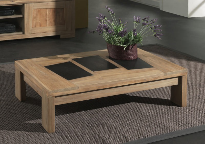 Table basse teck massif borabora - Table basse en teck massif ...