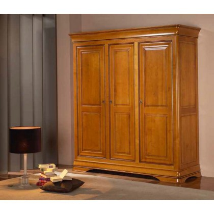 armoire 3 portes merisier massif jeanne. Black Bedroom Furniture Sets. Home Design Ideas