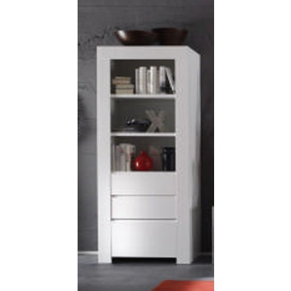 biblioth que moderne blanc laqu e tiroir trendy. Black Bedroom Furniture Sets. Home Design Ideas