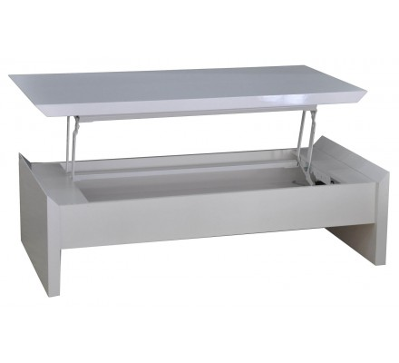 Table basse snack moderne blanche 6165 - Table basse moderne blanche ...