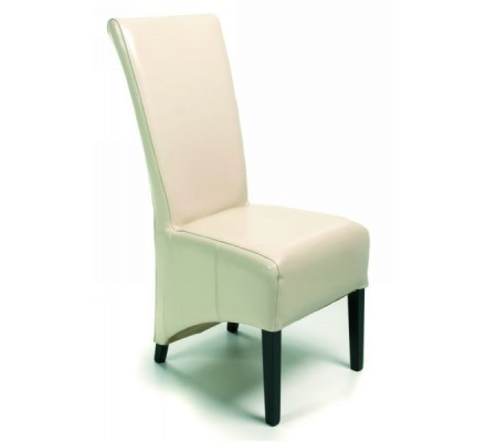 "Lot 2 chaises moderne beige ""Lune"""