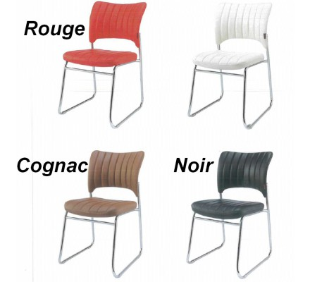 Lot de 6 Chaises rouge