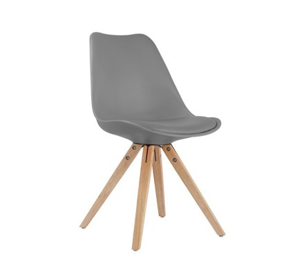 """Chaise design scandinave grise """"Scandinave lounge"""""""