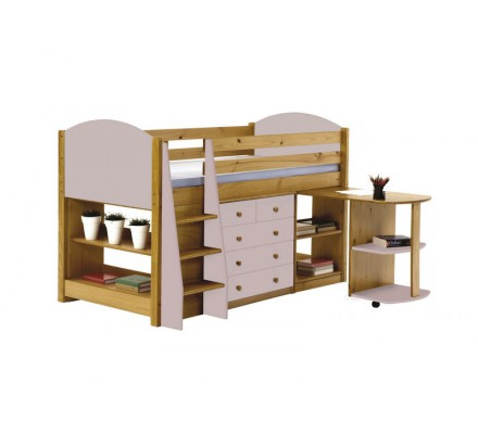 chambre compl te pin massif rose jumbo 5083. Black Bedroom Furniture Sets. Home Design Ideas
