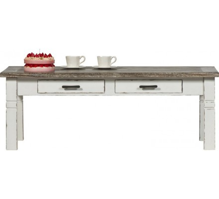 """Table basse 2 tiroirs """"Picasso White"""""""
