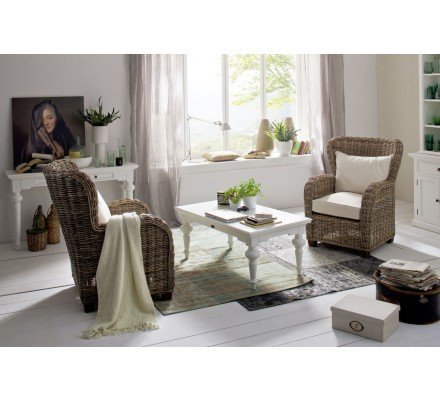 """Table basse rectangulaire """"Blanche"""""""