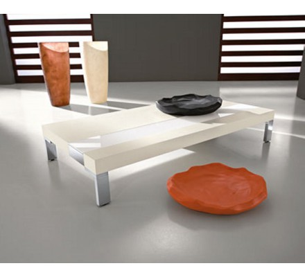 """Table basse rectangulaire blanche """"Yvons"""""""