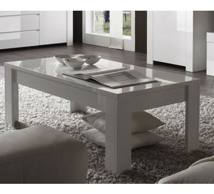 """Table basse moderne blanche """"Trendy"""""""