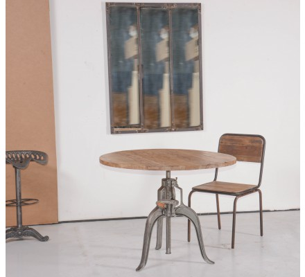 """Table ronde réhaussable """"Atelier grey"""""""