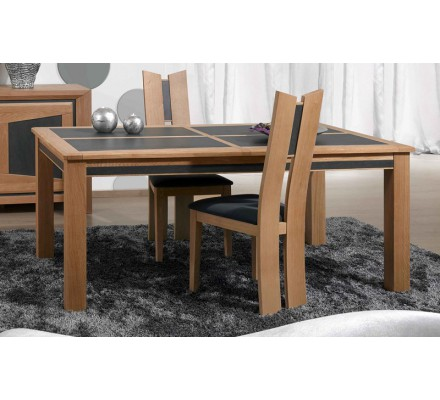 "Table de repas chêne 2 allonges ""Apollon"" 180cm"