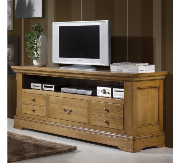 grand meuble t l 100 ch ne massif bianca 3140. Black Bedroom Furniture Sets. Home Design Ideas