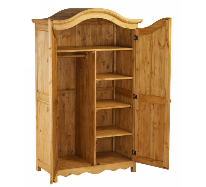 armoire pin massif 2 portes 126cm couleurs des alpes. Black Bedroom Furniture Sets. Home Design Ideas