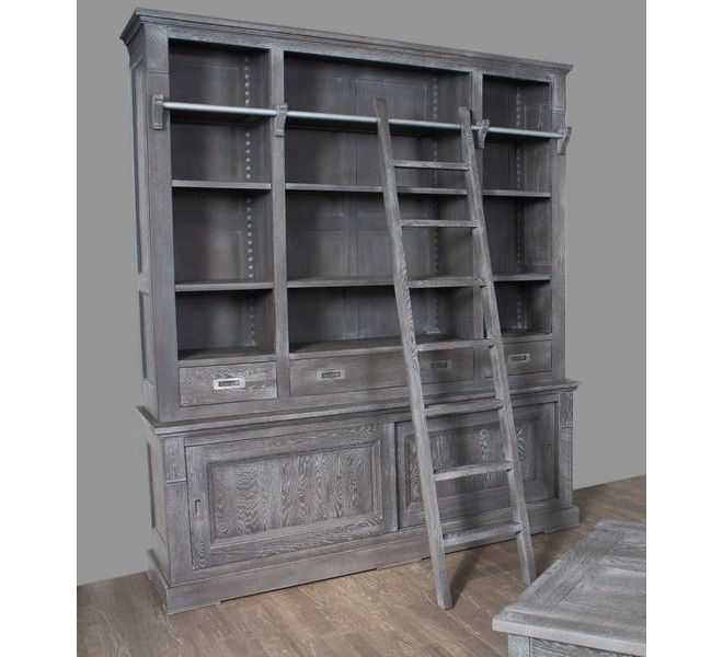 biblioth que ch ne massif avec chelle bella 3699. Black Bedroom Furniture Sets. Home Design Ideas
