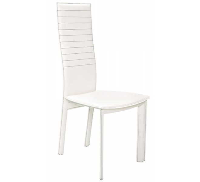 Lot 2 chaises moderne blanches uranus for Chaises blanches modernes