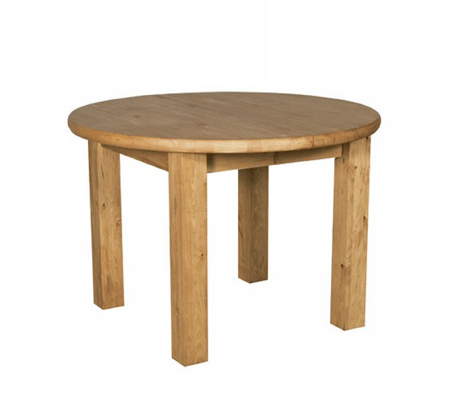 Table ronde pin massif brunswick casita - Table cuisine pin massif ...