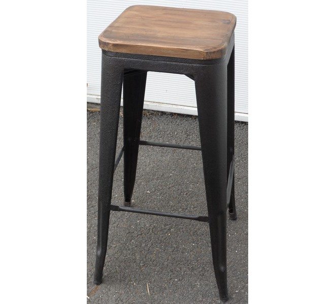Tabouret de bar pin massif fer 7091 - Tabouret de bar en pin ...