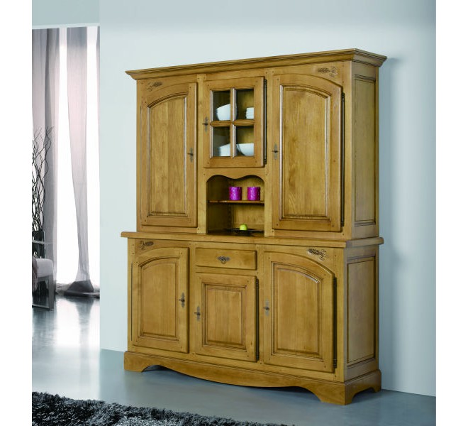 vaisselier en ch ne massif lorraine 3763. Black Bedroom Furniture Sets. Home Design Ideas