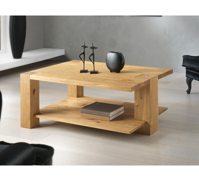 Table basse 3 pieds ch ne massif bibido15 for Table basse en chene massif