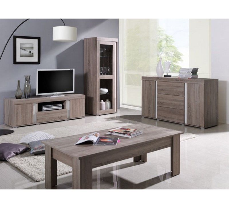 ensemble meuble de salon bois clair lavigne. Black Bedroom Furniture Sets. Home Design Ideas