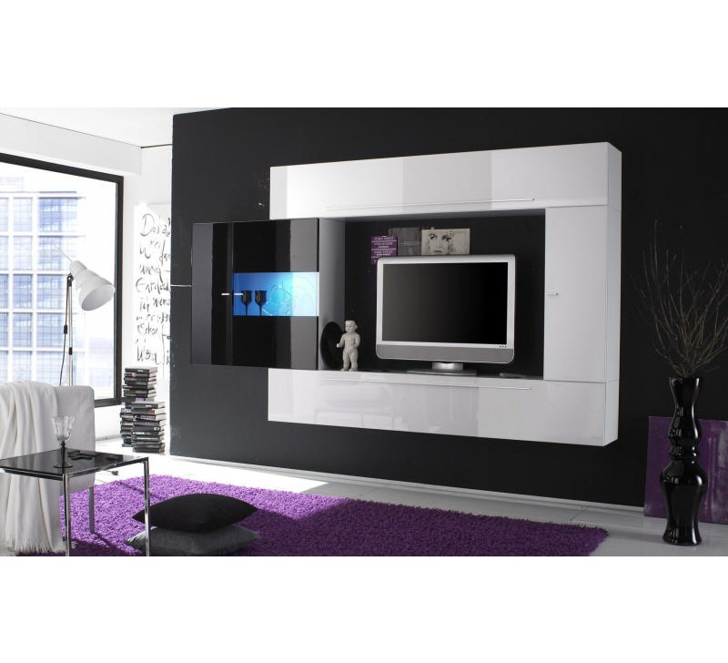 meuble t l laqu blanc 3167. Black Bedroom Furniture Sets. Home Design Ideas