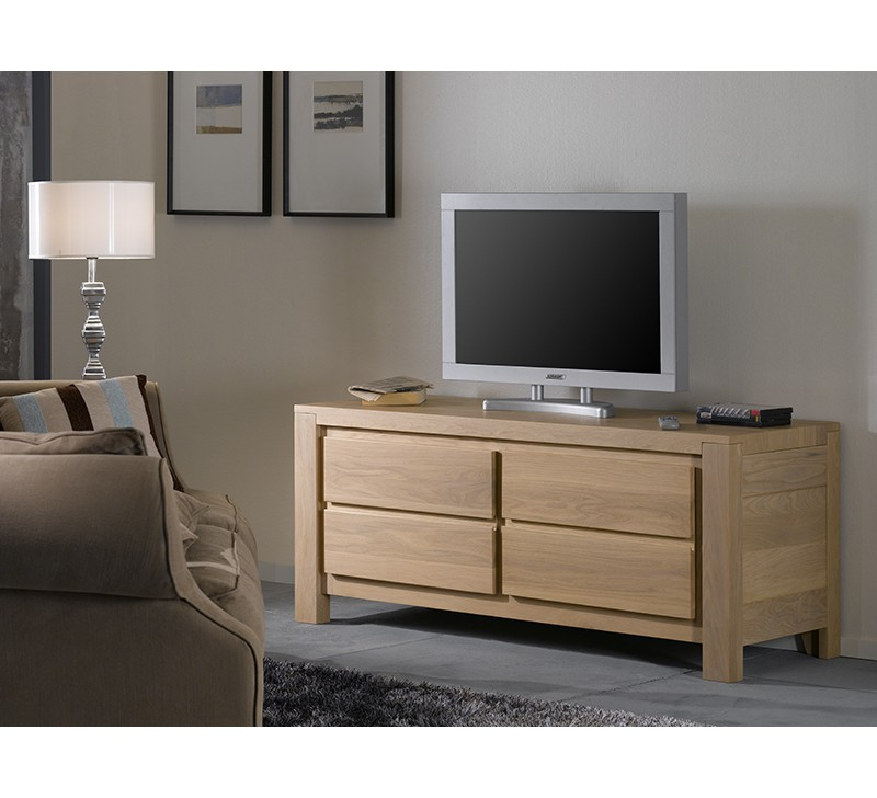 meuble tv en ch ne ethnic 4961. Black Bedroom Furniture Sets. Home Design Ideas