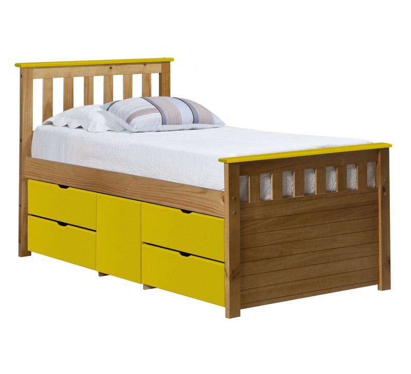 lit 90x190 pin jaune lugio. Black Bedroom Furniture Sets. Home Design Ideas