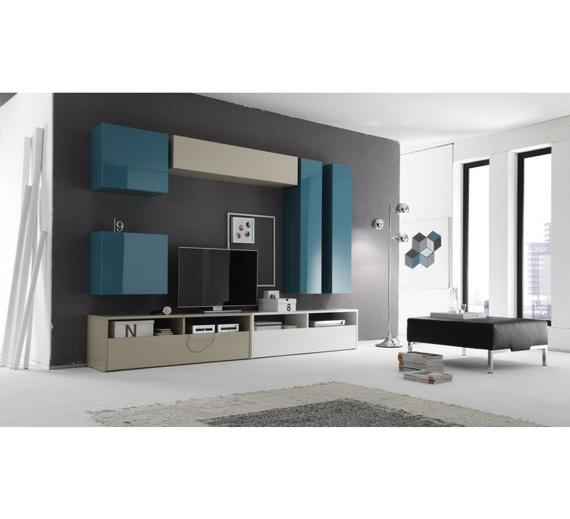 meuble t l moderne laqu color. Black Bedroom Furniture Sets. Home Design Ideas