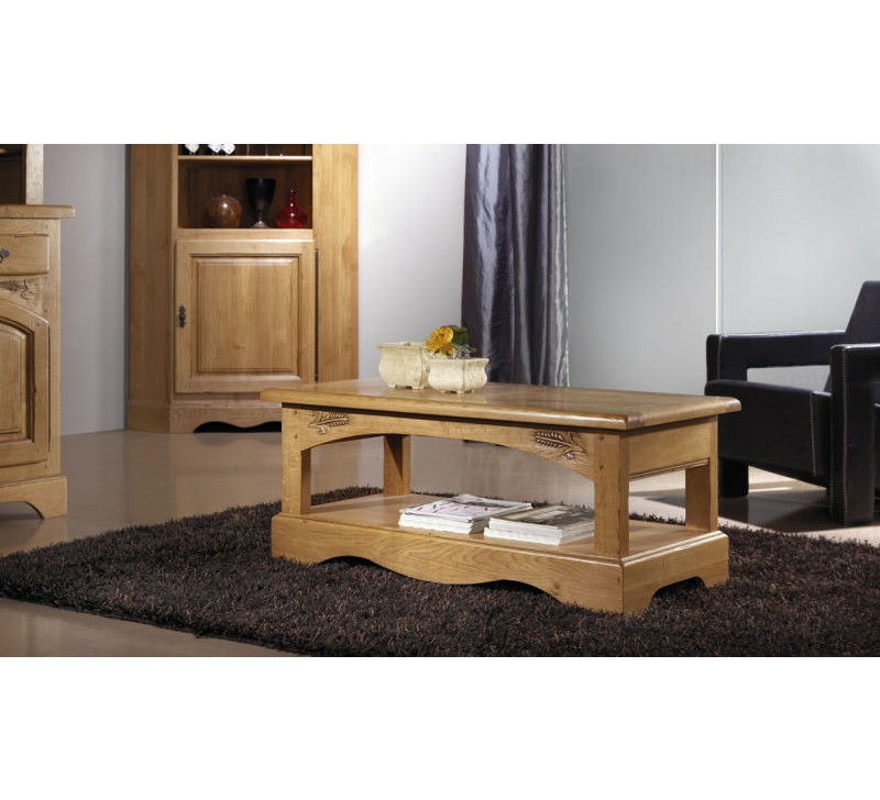 table basse rectangulaire ch ne massif lorraine 3765. Black Bedroom Furniture Sets. Home Design Ideas