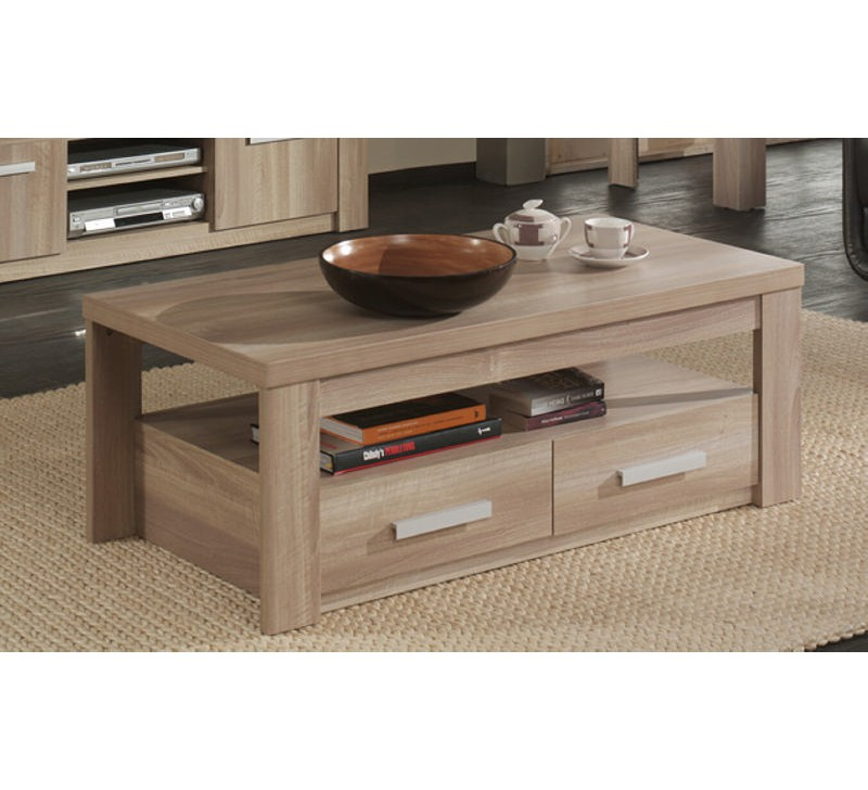 Table basse double plateau milan 3665 for Table basse double plateau