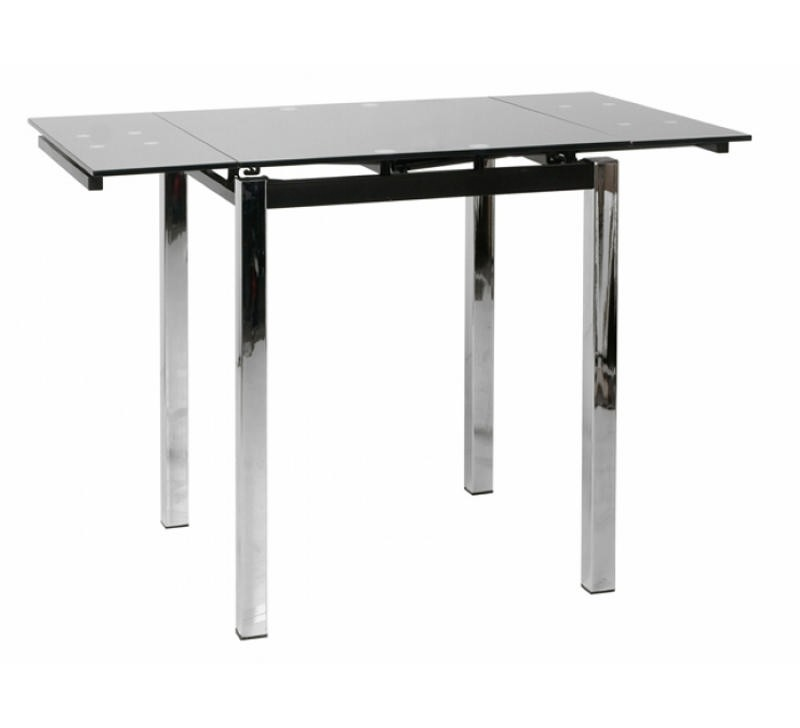Table de bar moderne noire avec allonges 6974 - Table haute bar extensible ...
