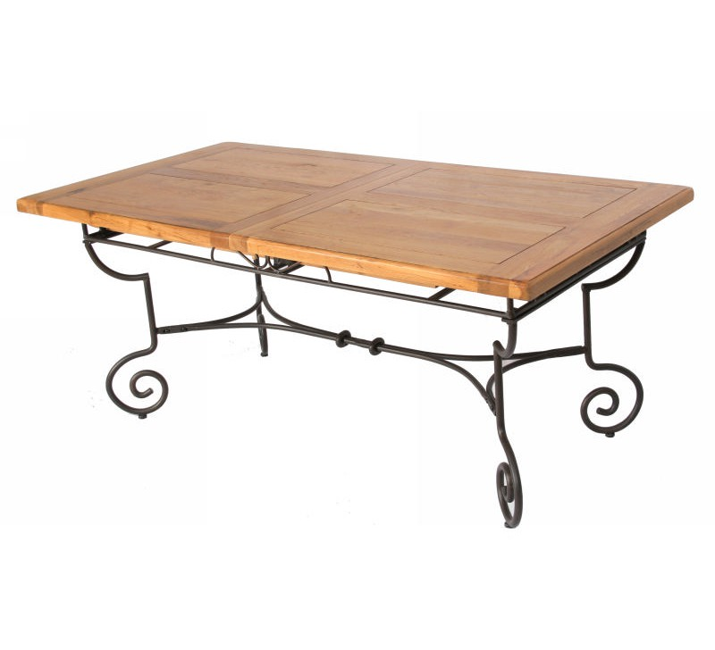 Table rectangulaire batista fer forg bois 1475 for Table salle manger bois fer