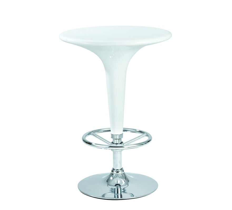 Table de bar blanche delta 60cm 168 for Table bar blanche