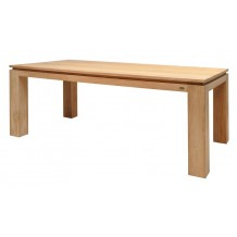 "Table en teck carré ou rectangulaire ""Groove"""